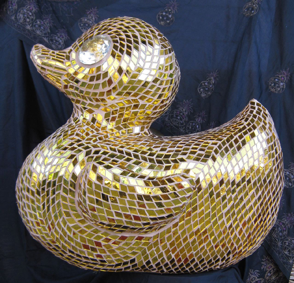 Duck Art Mosaic Sculpture with EPS Foam Substrate
