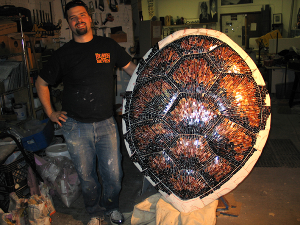 Foam Mosaic Turtle Shell