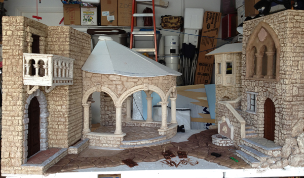 Polystyrene Foam Detailed Nativity Model