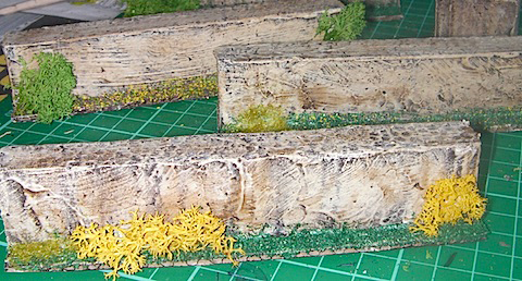 Grass on foam barriers