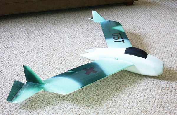 EPS Foam RC Model Airplane Prototype