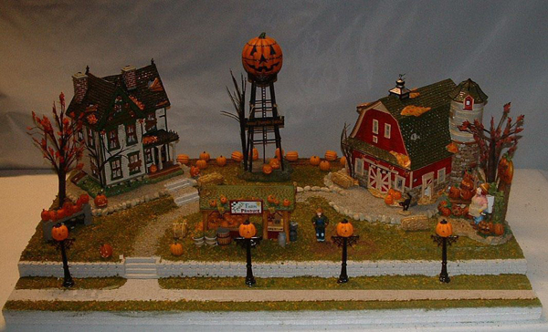 Halloween Village Farm Displays