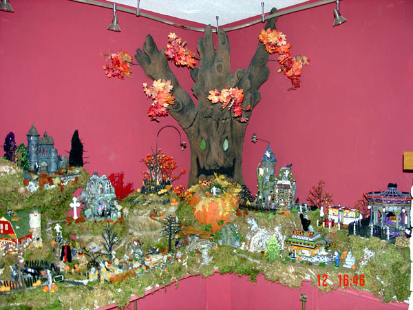 EPS Foam Based Halloween Village Corner
