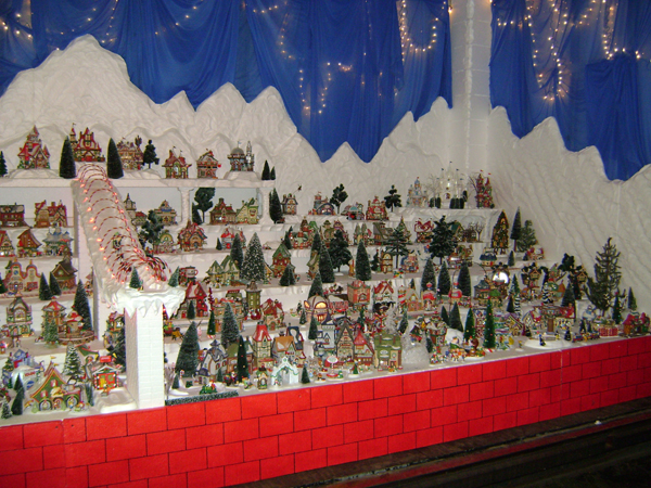 Big North Pole Village Display
