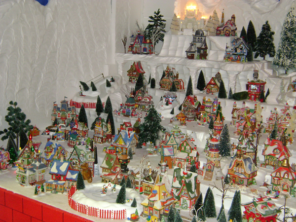 Large North Pole Village Display