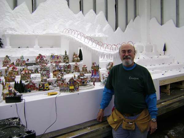 Building a Large North Pole Village Display