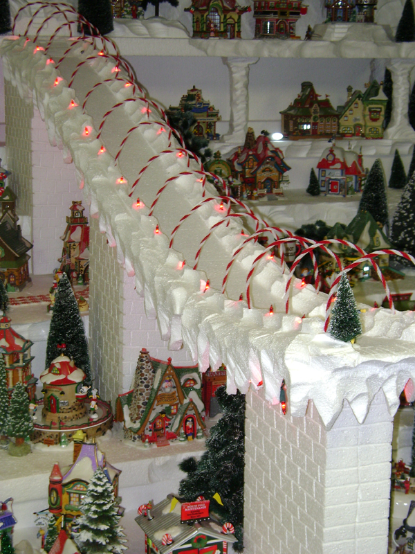 Large Foam North Pole Village Display