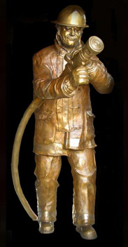 Firefighter Bronze Sculpture