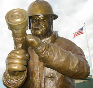 Bronze Firefighter Sculpture