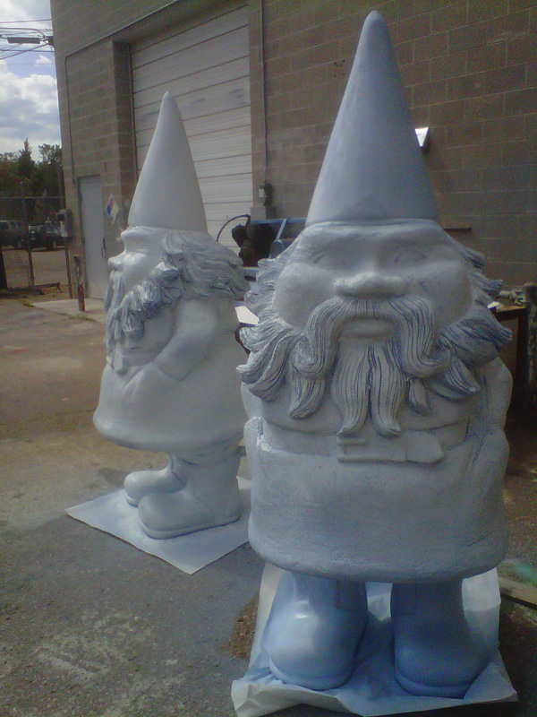 EPS Foam Styrofoam 7' Tall Garden Gnomes Artworks Props