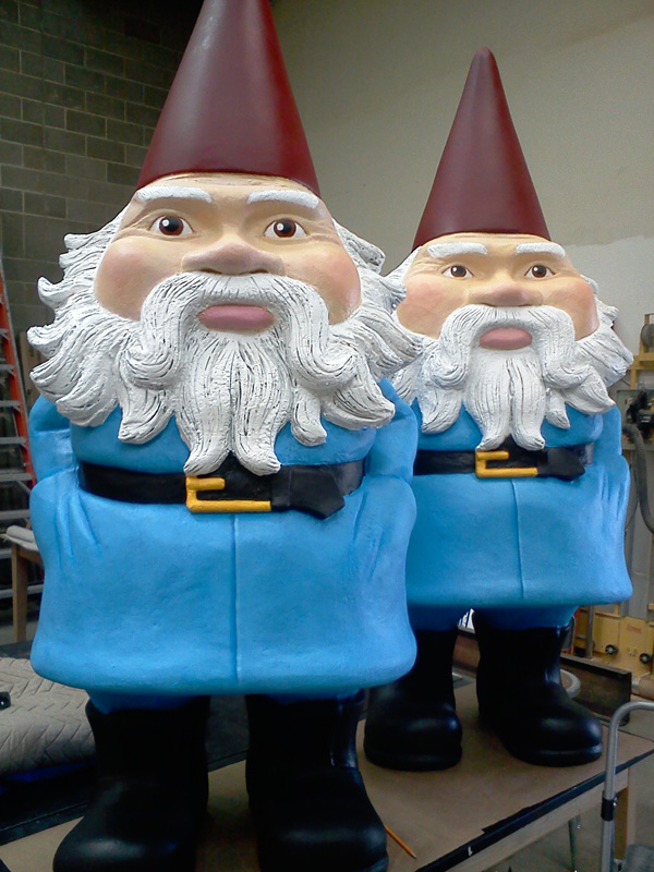 7' Tall EPS Foam Garden Gnomes