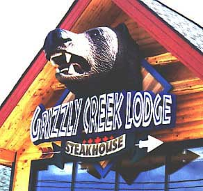 Grizzly Creek Lodge Foam Sign