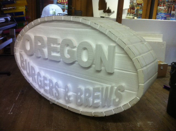 3D Foam Barrel Sign