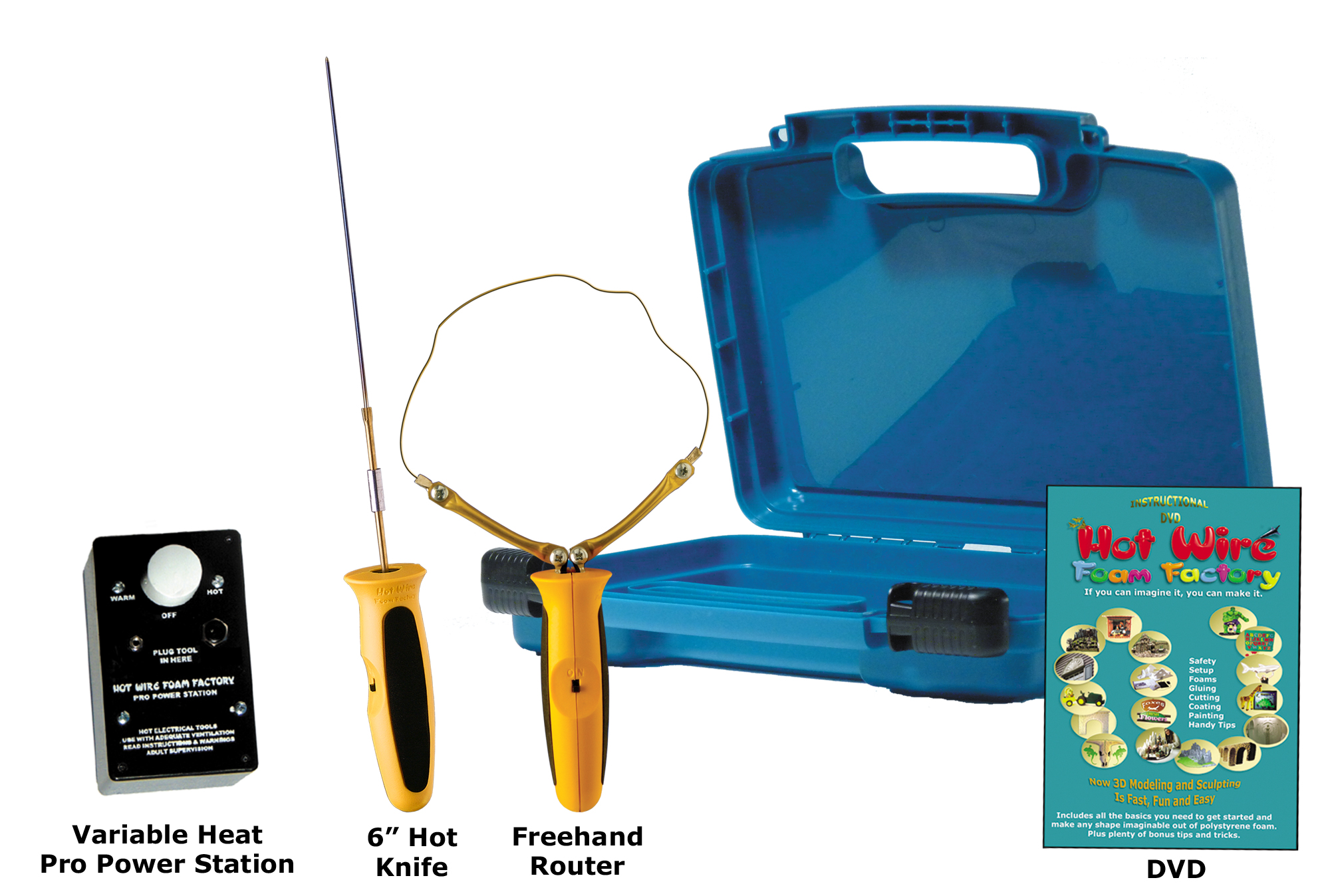 """#K44P6V - Pro 6"""""""" Hot Knife & Freehand Router Kit with Variable Heat Pro Power Station"""