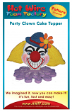 #P005 - Party Clown Cake Topper Pattern