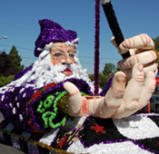 Styrofoam Parade Wizard Float