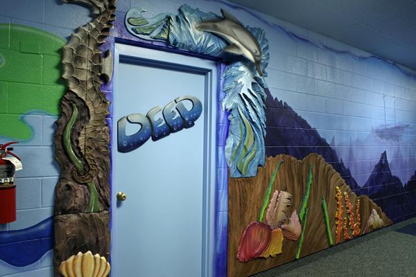 Hot Wire Foam Factory Water Scene Wall Mural