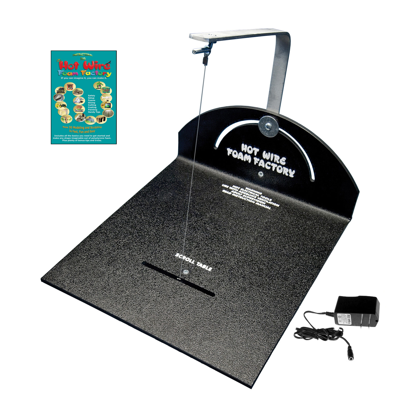 Crafters Hot Wire Scroll Table Includes Supply And Instructional Dvd