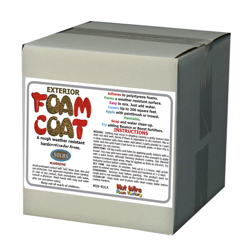#026ECO-50 Bulk Exterior Foam Coat 50lbs   SHIPS FREE!