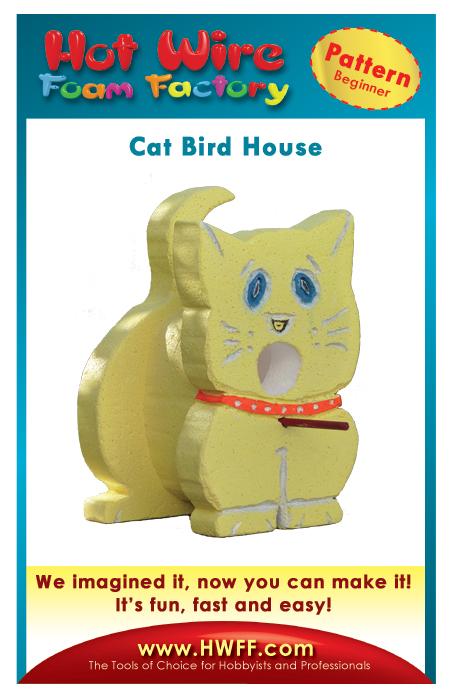 #P011 - Cat Bird House Pattern
