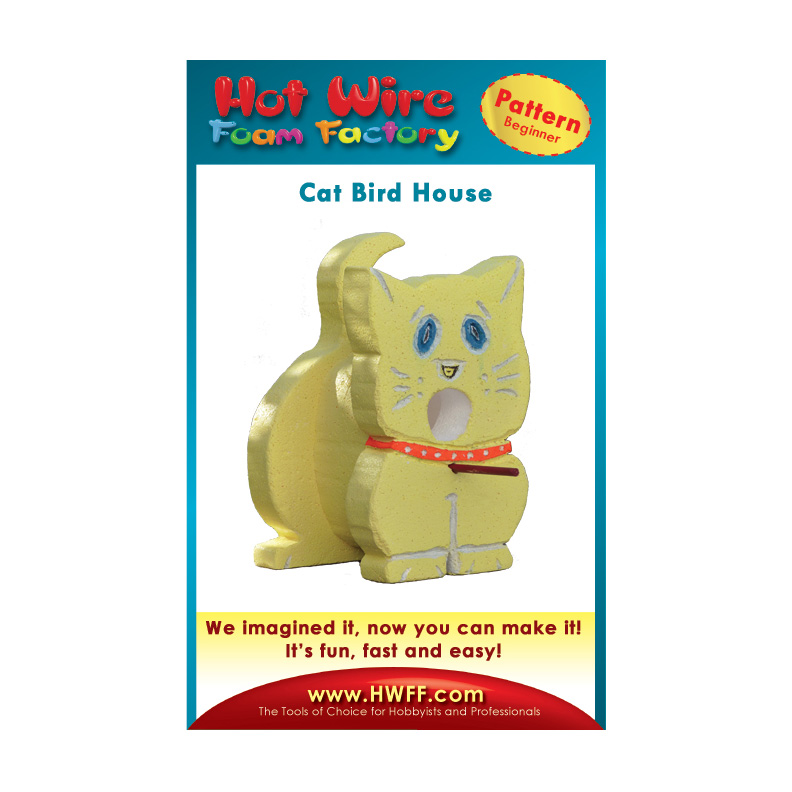 Cat Bird House Pattern #P011