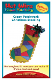 #P003 - Crazy Patchwork Christmas Stocking Pattern